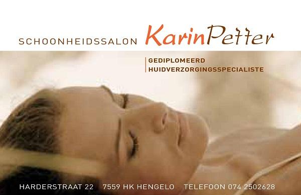 Karin Petter Schoonheidsspecialiste Visitekaartje